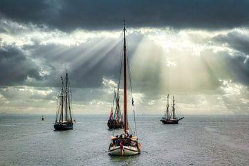 Zeilschepen op de Westerschelde van Evert Jan Looise