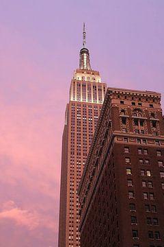 Sunset over New York City van Daniel Chambers