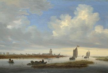 Gezicht op Deventer gezien vanuit het noordwesten, Salomon van Ruysdael