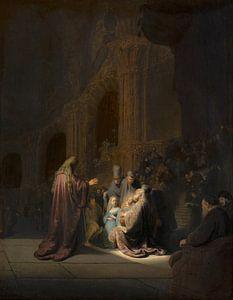 Rembrandt, Simeon im Tempel