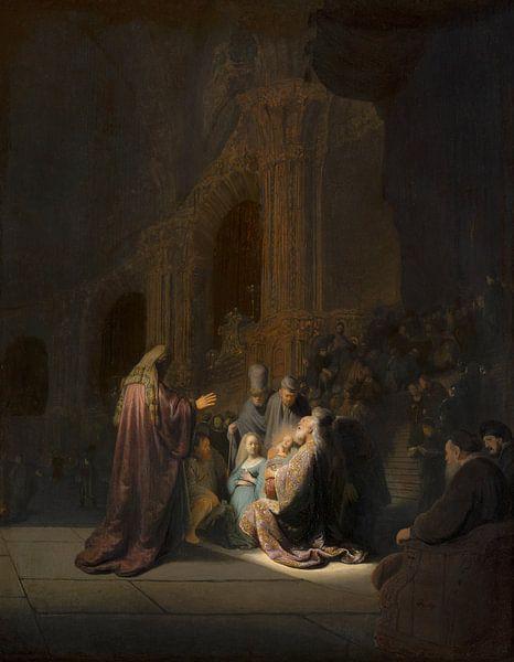 Rembrandt, Simeon im Tempel von Rembrandt van Rijn