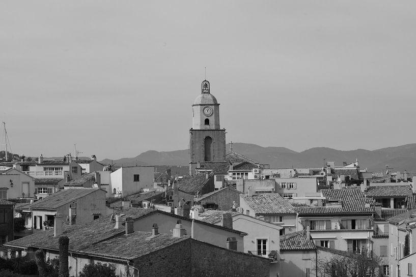 Zicht over Saint-Tropez van Tom Vandenhende