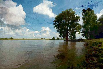 De Maas bij 's Hertogenbosch van Peter Baak