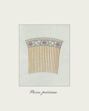 """""""Pierre Précieuse"""" Vintage haarkam tekening - Boho, chic, fashion van NOONY"""
