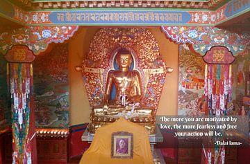 Buddha in Norbulenka instituut van Misja Vermeulen