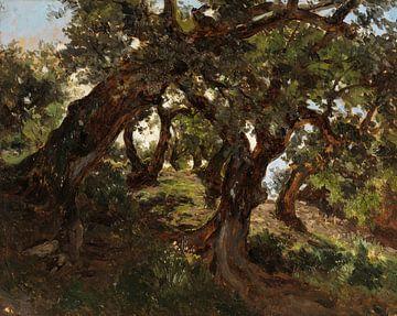 Wälder von Carlos de Haes-Oude, alte Eichen, antike Landschaft