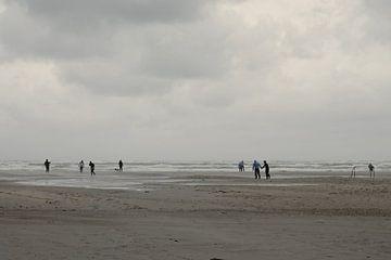 Storm op het strand van Terschelling van Berthilde van der Leij