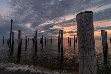 Palendorp Petten kurz nach Sonnenuntergang von Paul Veen