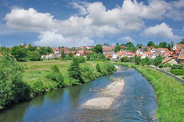 Vakwerkdorp Breitungen aan de Werra,Thüringen van Peter Eckert