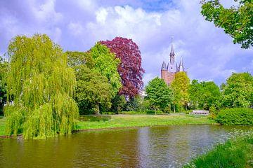Uitzicht op de Sassenpoort in Zwolle van Sjoerd van der Wal