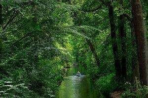 Kajak op een kanaal in het Spreewald