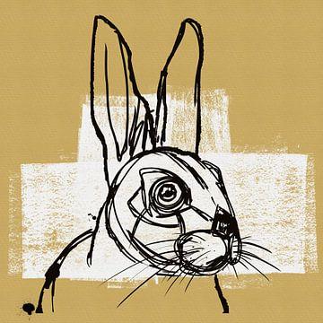 Skizze eines Hasen von Lida Bruinen