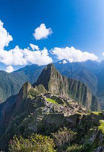 Machu Picchu, Peru, verticaal panorama van