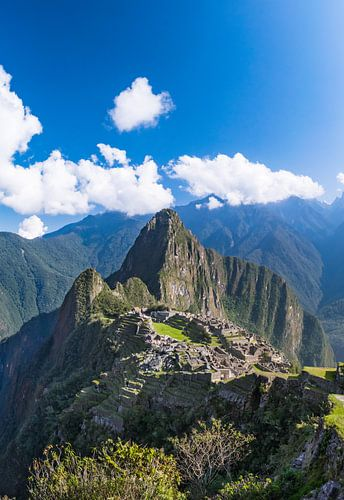 Machu Picchu, Peru, verticaal panorama