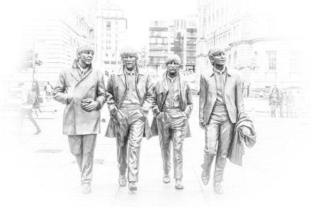 Fab Four in Liverpool sur Ad van Beek