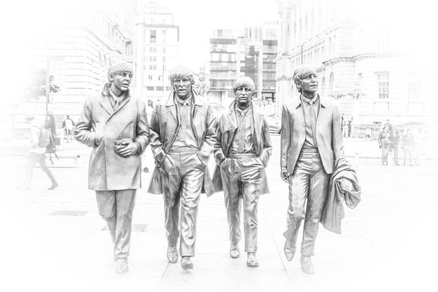 Fab Four in Liverpool von Ad van Beek