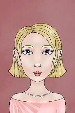 Eens was ik een fee - Linetta - Portret van een meisje | Victoria Zotova, Rusland van Buzzles Gallery