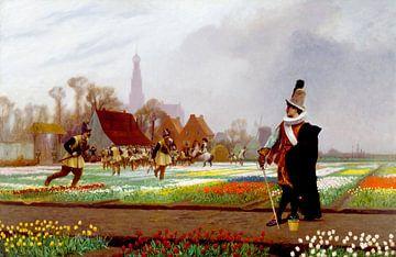 La folie des tulipes, Jean-Léon Gérôme