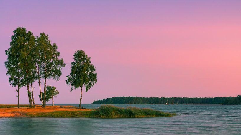 Sunset at Lake Vänern, Sweden. van Henk Meijer Photography
