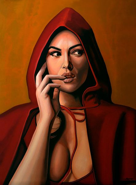 Monica Bellucci Schilderij