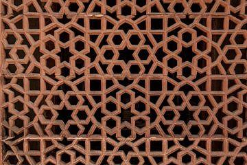 Dekoratives Detail des Reliefs im Grab von Humayun von Tjeerd Kruse