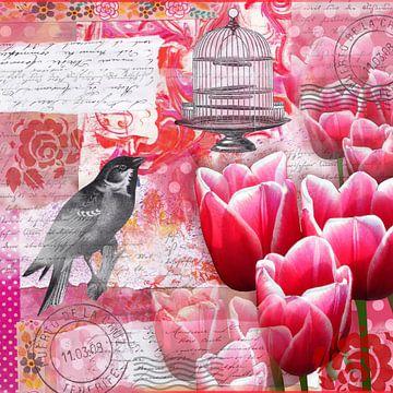 Der kluge Vogel verlässt den Käfig van christine b-b müller
