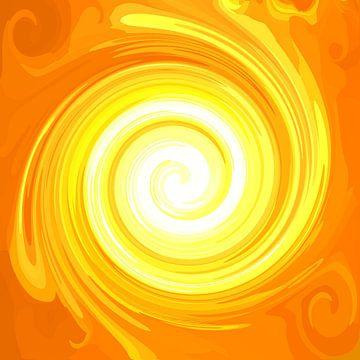Grosse Sonnen-Energie-Spirale 1 von Ramon Labusch