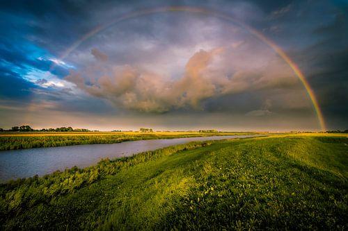 Zicht op een Regenboog vanuit Roodehaan