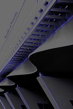 Abstracte brug van Ronald De Neve