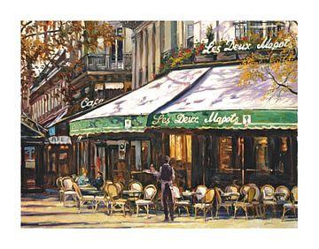 Jean - Les Deux Magots Café Parijs von Branko Kostic