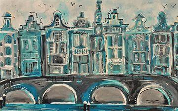 Amsterdam grachtengordel  aqua groen