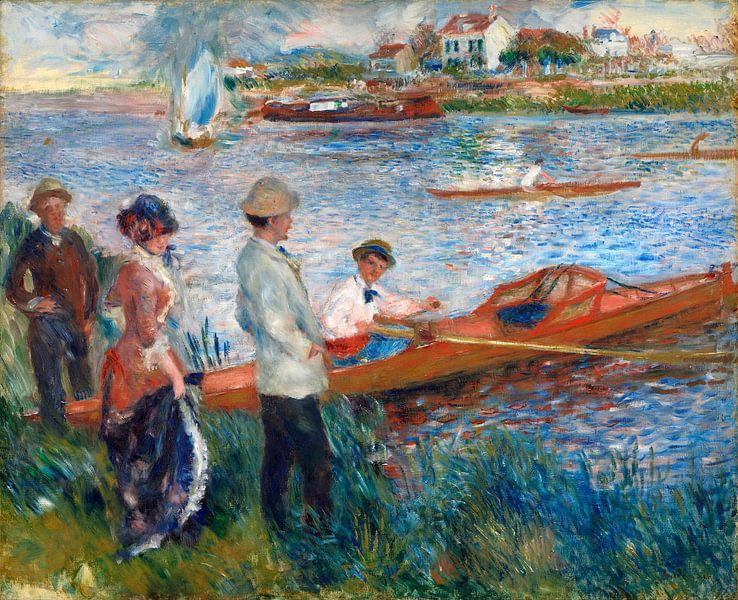 Roeiers in Chatou, Auguste Renoir