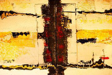 Structuurpatroon zwart geel rood van Klaus Heidecker