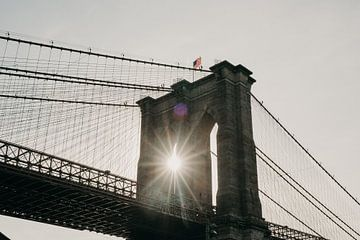 Brooklyn Bridge - Sonnenaufgang von Jan-Hessel Boermans