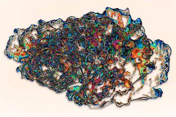 Abstractie - Beweging - #001 (dag versie) van Peter Baak