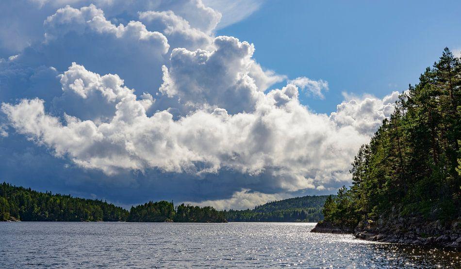 Stora Le meer in Zweden in de zomer