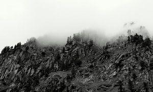 Mistige bergen van