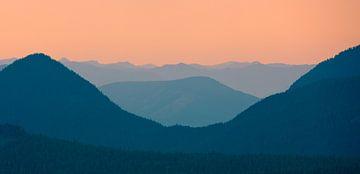 Sonnenaufgang im Mount Rainier National Park, Bundesstaat Washington, Vereinigte Staaten