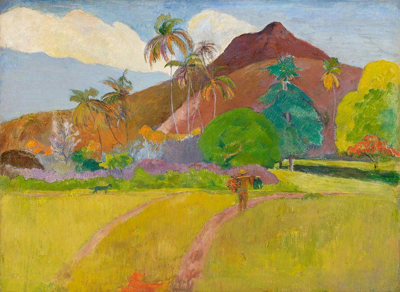 Paul Gauguin. The  Mountain van 1000 Schilderijen