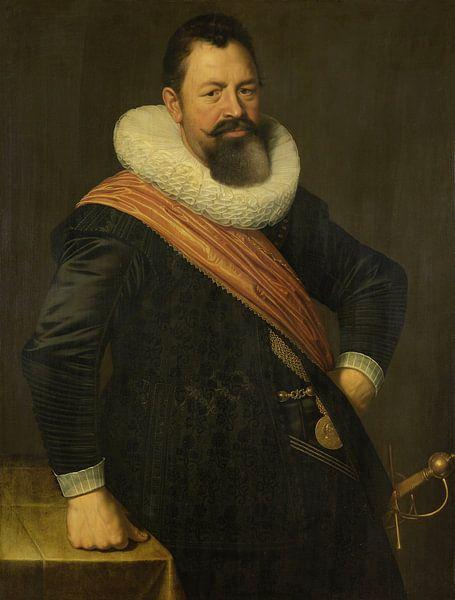 Porträt von Jochem Hendricksz Swartenhont, Nicolaes Eliasz. Pickenoy - 1627 von Het Archief
