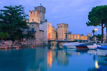 Rocca Scaligera, Sirmione, Lac de Garde, Italie sur Henk Meijer Photography