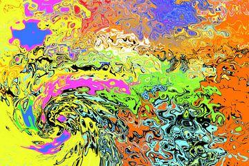 Cosmos kleurrijk van Johann Bucher