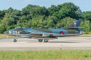 Ready for take-off! Hawker Hunter F.6A (N-294) van de Dutch Hawker Hunter Foundation.