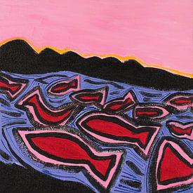 Angeln und die Sonne (1) von Ivonne Sommer