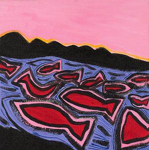vissen en de zon (1) van Ivonne Sommer