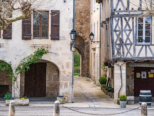Fourcès, dorpje in de Gers in Frankrijk