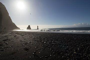 Reynisfjara Black Sand Beach van Ingrid Mooij