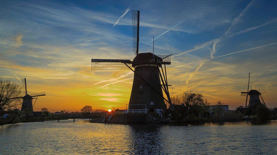Prachtig Nederland, op de Kinderdijk van Roy Poots