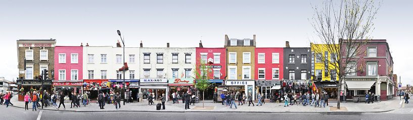 London Camden Market Panorama van Panorama Streetline