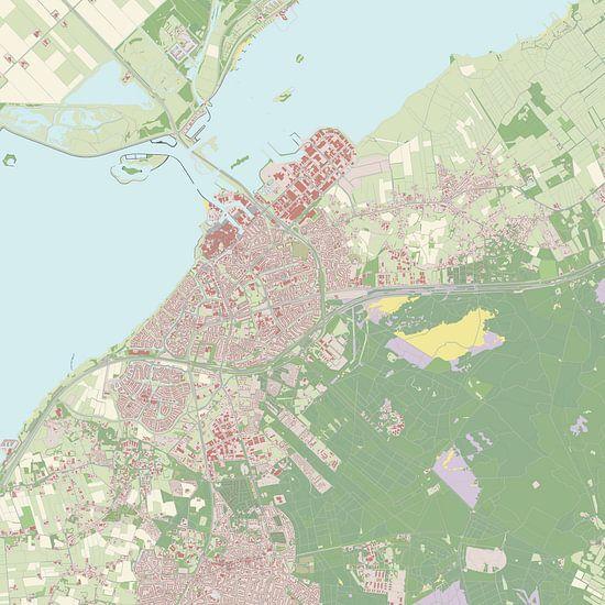 Kaart vanHarderwijk van Rebel Ontwerp
